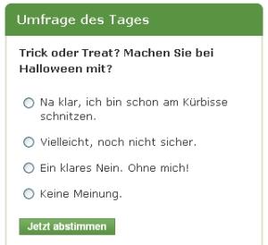 Halloween ja oder nein - das ist hier die Frage!