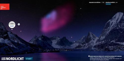 Polarlichter selbst zum Leuchten bringen