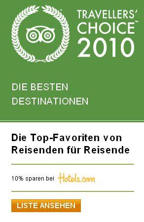 Hier für die Travellers Choice Liste und den Rabatt klicken