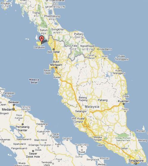 Langkawi - Kartenausschnitt von Google Maps Deutschland